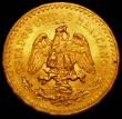 London Coins : A165 : Lot 2229 : Mexico 50 Pesos Gold 1945 KM#481 GEF with a small spot by the obverse rim
