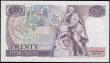 London Coins : A165 : Lot 230 : Twenty Pounds Page B328 issued 1970 first series A54 829713 UNC