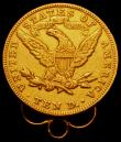 London Coins : A165 : Lot 2342 : USA Ten Dollars Gold 1894 Breen 7045 Good Fine with loop mount attached