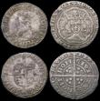 London Coins : A165 : Lot 2404 : Groats (4) Edward III Fourth Coinage Pre-Treaty Period (2), Treaty Period, and Mary S.2492 mintmark ...