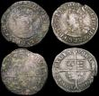 London Coins : A165 : Lot 2405 : Groats (4) Henry VII facing portrait Type III, S.2199A mintmark Anchor, Fine, Henry VIII Third Coina...