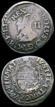 London Coins : A165 : Lot 2470 : Sixpence Charles I Group E, as S.2814, with C of CHRISTO double struck, mintmark Anchor Near Fine wi...