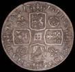London Coins : A165 : Lot 2510 : Crown 1716 Roses and Plumes ESC 110, Bull 1540 approaching Fine/About Fine