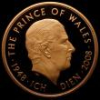 London Coins : A165 : Lot 2569 : Five Pound Crown 2008 Prince of Wales 60th Birthday S.L19 Gold Proof nFDC with minor hairlines by RE...