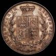 London Coins : A165 : Lot 2747 : Halfcrown 1842 ESC 675, Bull 2717 UNC or near so with minor cabinet friction, excellent surfaces wit...