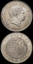 London Coins : A165 : Lot 2769 : Halfcrowns (2) 1817 Bull Head ESC 616, Bull 2090 NEF/GVF, 1817 Small Head ESC 618, Bull 2096 GVF/NEF...