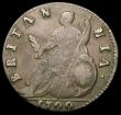 London Coins : A165 : Lot 2771 : Halfpenny 1700 Peck 699 GVLIELMS error with unbarred A's in BRITANNIA Fine all lettering bold a...