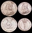 London Coins : A165 : Lot 2787 : Maundy Set 1760 ESC 2411, Bull 1774 EF to A/UNC