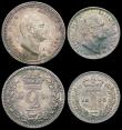 London Coins : A165 : Lot 2791 : Maundy Set 1835 ESC 2442, Bull 2553 NEF to A/UNC