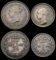 London Coins : A165 : Lot 2795 : Maundy Set 1847 ESC 2457, Bull 3490 NEF to GEF with a matching grey tone, Rare