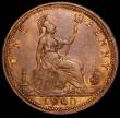 London Coins : A165 : Lot 2833 : Penny 1860 Beaded Border, Freeman 7, dies 1+C, VF/NEF, Rare