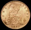 London Coins : A165 : Lot 2844 : Penny 1887 Freeman 125 dies 12+N UNC with practically full lustre the reverse with touches of mint b...