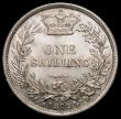 London Coins : A165 : Lot 2879 : Shilling 1872 ESC 1324, Bull 3042 Die Number 116 UNC with minor contact marks,  retaining some origi...