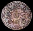 London Coins : A165 : Lot 2895 : Sixpence 1741 Roses ESC 1613, Bull 1751 GEF and choice with blue, gold and magenta toning