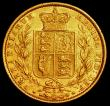 London Coins : A165 : Lot 3008 : Sovereign 1871S Shield Reverse, WW incuse S.3855A NVF/GVF