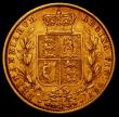London Coins : A165 : Lot 3037 : Sovereign 1880S Shield Reverse S.3855, Marsh 76 Good Fine