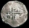 London Coins : A165 : Lot 3596 : Bolivia 8 Reales Cob moneyer P TR (Pedro Trevino) mintmark Fine or slightly better for issue, on a r...