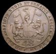 London Coins : A165 : Lot 3679 : India - Madras Presidency 1/48th Rupee (Dub) 1797 edge ENGLISH UNITED EAST INDIA COMPANY KM#398 VF, ...