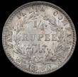 London Coins : A165 : Lot 3680 : India Quarter Rupee 1840 WW raised on truncation, obverse legend divided, Plain 4 with no stop after...