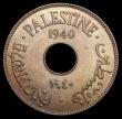 London Coins : A165 : Lot 3751 : Palestine 10 Mils 1940 KM#4 UNC and attractively toned