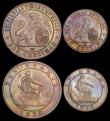 London Coins : A165 : Lot 3771 : Spain (3) 5 Centimos 1870 OM KM#662 EF, 2 Centimos 1870 OM KM#661 AU/GEF nicely toned with a small f...