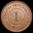 London Coins : A165 : Lot 3787 : Straits Settlements One Cent 1897 KM#16 EF toned