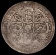 London Coins : A165 : Lot 3842 : Crown 1682 the 2 overstruck with traces of underlying 1 as ESC 489A, Bull 494 About VG with some wor...