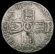 London Coins : A165 : Lot 3882 : Halfcrown 1697 NONO Large Shields, Later Harp ESC 543, Bull 1060, VG