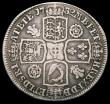 London Coins : A165 : Lot 3885 : Halfcrown 1732 Roses and Plumes ESC 117, Bull 1660 Near Fine