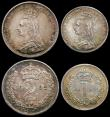 London Coins : A165 : Lot 3908 : Maundy Set 1892 ESC 2507, Bull 3550 NEF to A/UNC , the Fourpence with grey tone, the Threepence lust...