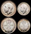 London Coins : A165 : Lot 3914 : Maundy Set 1912 ESC 2529, Bull 3972 UNC and lustrous, the Penny with a touch of gold toning, an attr...