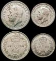 London Coins : A165 : Lot 3916 : Maundy Set 1929 ESC 2546, Bull 3989 EF to A/UNC with some light toning