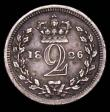 London Coins : A165 : Lot 3919 : Maundy Twopence 1826 reads TRITANNIAR (T over B) NVF toned