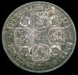 London Coins : A165 : Lot 3937 : Shilling 1747 Roses ESC 1209, Bull 1728 Near VF with grey tone