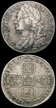 London Coins : A165 : Lot 3952 : Shillings (2) 1741 Roses ESC 1202, Bull 1717 Fine/Good Fine, 1745 LIMA ESC 1205, Bull 1724, Fine or ...