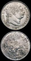 London Coins : A165 : Lot 3970 : Sixpences (2) 1817 ESC 1632, Bull 2195, GEF, 1819 ESC 1636, Bull 2201, A/UNC the obverse lustrous, t...