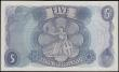 London Coins : A165 : Lot 421 : Five Pounds Fforde QE2 portrait & seated child Britannia B313 Blue Replacement issue 1967 series...