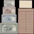 London Coins : A165 : Lot 866 : Burma Specimen Set ND 1953 Union Bank of Burma Act 1952 (4) comprising 1 Rupee looks like Pick 38 un...