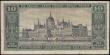 London Coins : A165 : Lot 926 : Hungary 10 Pengo Magyar Nemzeti Bank Pick 90a dated 1st March 1926 Budapest Deák Ferenc portr...
