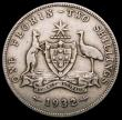 London Coins : A166 : Lot 1086 : Australia Florin 1932 KM#27 Near Fine/About Fine, the key date in the series