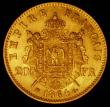 London Coins : A166 : Lot 1113 : France 20 Francs Gold 1864BB KM#801.2 EF