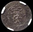 London Coins : A166 : Lot 1160 : Netherlands East Indies - 1/8 Gulden, Reverse: Sailing Ship with inner circle KM#79 in an NGC holder...