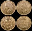 London Coins : A166 : Lot 1210 : USA (4) Two Cents 1865 Plain 5 Breen 2387 GEF, One Cent (3) 1865 Fancy 5 Breen 1963 EF, 1865 Plain 5...