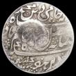 London Coins : A166 : Lot 1253 : Yemen - Quaiti State Rupee countermarked issue, 10mm countermark AH1307 (1889) on India Madras Presi...