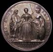London Coins : A166 : Lot 1300 : Coronation of Queen Caroline 1727 34mm diameter in silver by J.Croker Eimer 512 Obverse Bust left we...