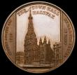 London Coins : A166 : Lot 1331 : The Opening of the Halifax Town Hall 1863 38mm diameter in bronze by J.Moore. Obverse: Busts right c...