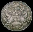 London Coins : A166 : Lot 1335 : Union of England and Scotland 1707 26mm diameter in silver on a thin flan by J.Croker, Eimer 424b, O...
