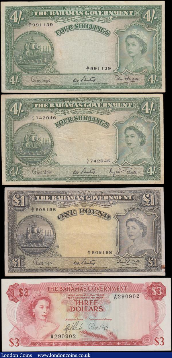 2x 10 Shillings 1 Pound Issue ND 1914-1915 George V 4 Banknotes 27