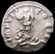 London Coins : A166 : Lot 1437 : Roman Denarius Marcus Aurelius, Rome 174, Rev. German Captive at base of trophy (RCV 4911), VF a his...