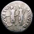 London Coins : A166 : Lot 1438 : Roman Denarius Nero, Rome 64-5, Rev. AVGVSTVS AVGVSTA, Augustus and Livia facing (RCV 1940) Good Fin...